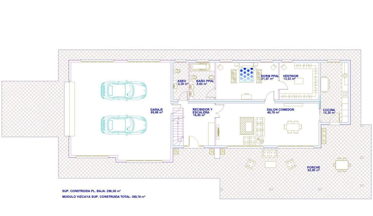 Casas prefabricadas modelo vizcaya tecnohome - Casas prefabricadas vizcaya ...