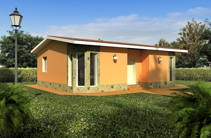 Casas prefabricadas modelo santander tecnohome for Casa de una planta sencilla