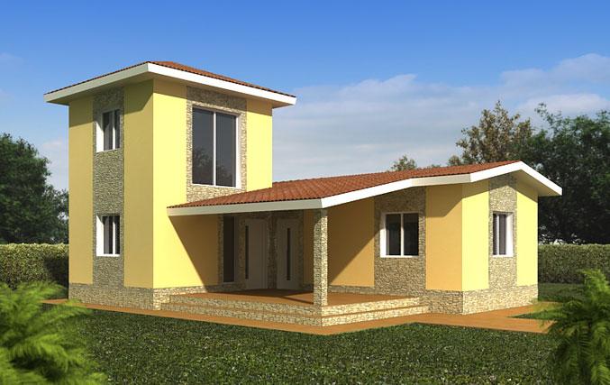 Casas prefabricadas modelo valladolid tecnohome - Casas prefabricadas burgos ...