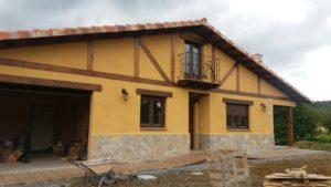 Construcción de caserío vasco