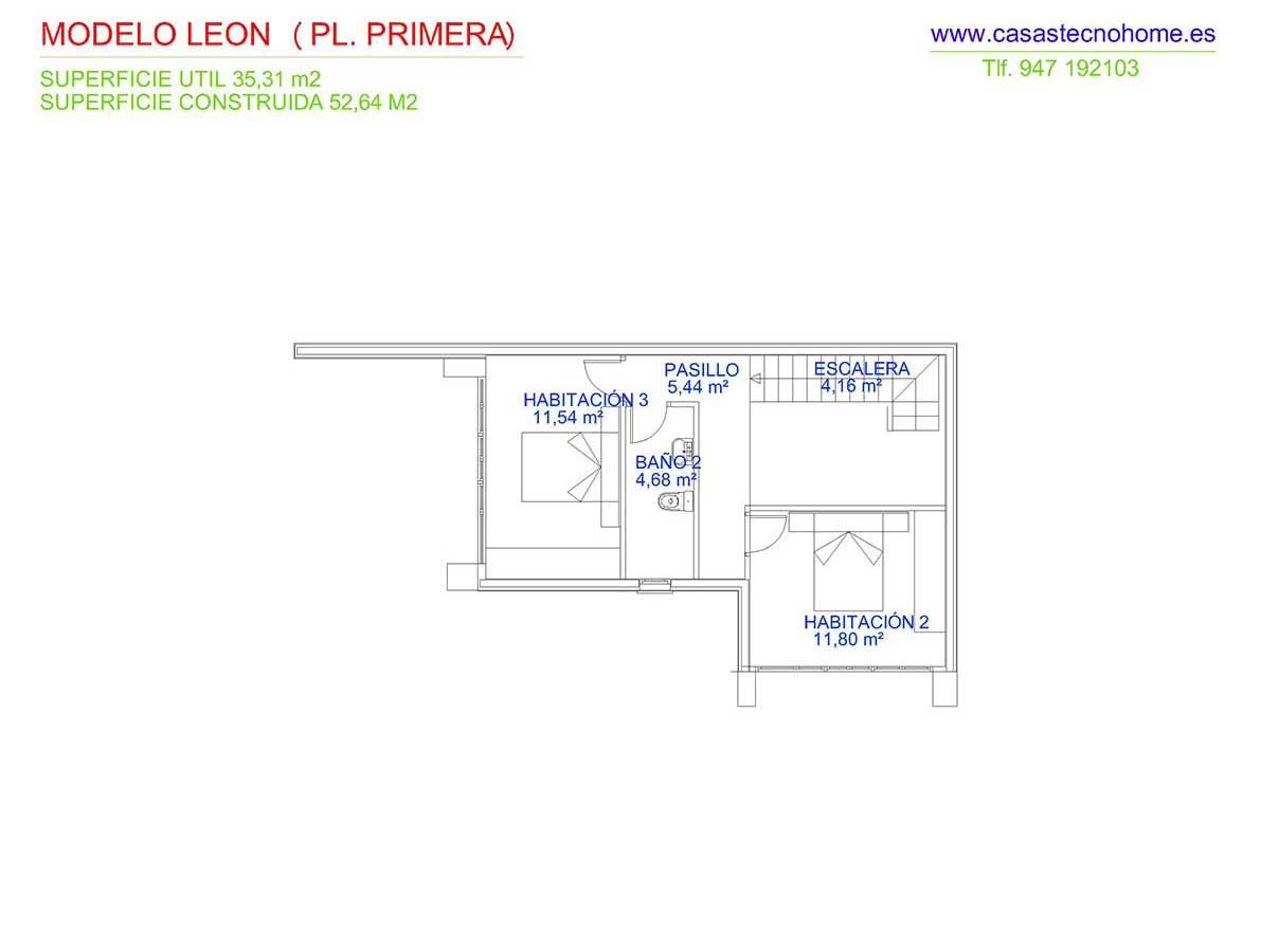 plano casas prefabricadas en leon
