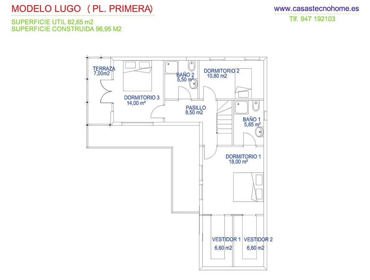 plano casas prefabricadas lugo