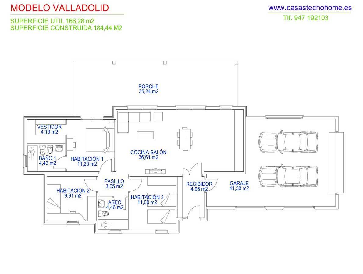 plano casas prefabricadas en valladolid